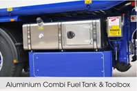 Aluminium Combi Fuel Tank and Toolbox