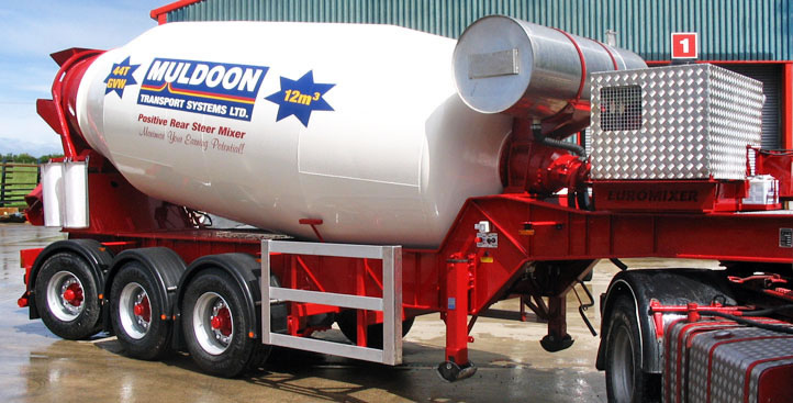 Muldoon Transport Systems - Steer Mixer Trailer